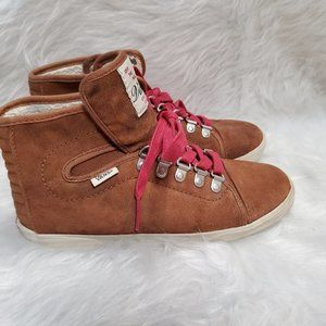 Vans Hadley Hiker Boots Shoes Brown Red Sneakers